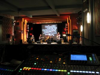 Stage view from sound booth