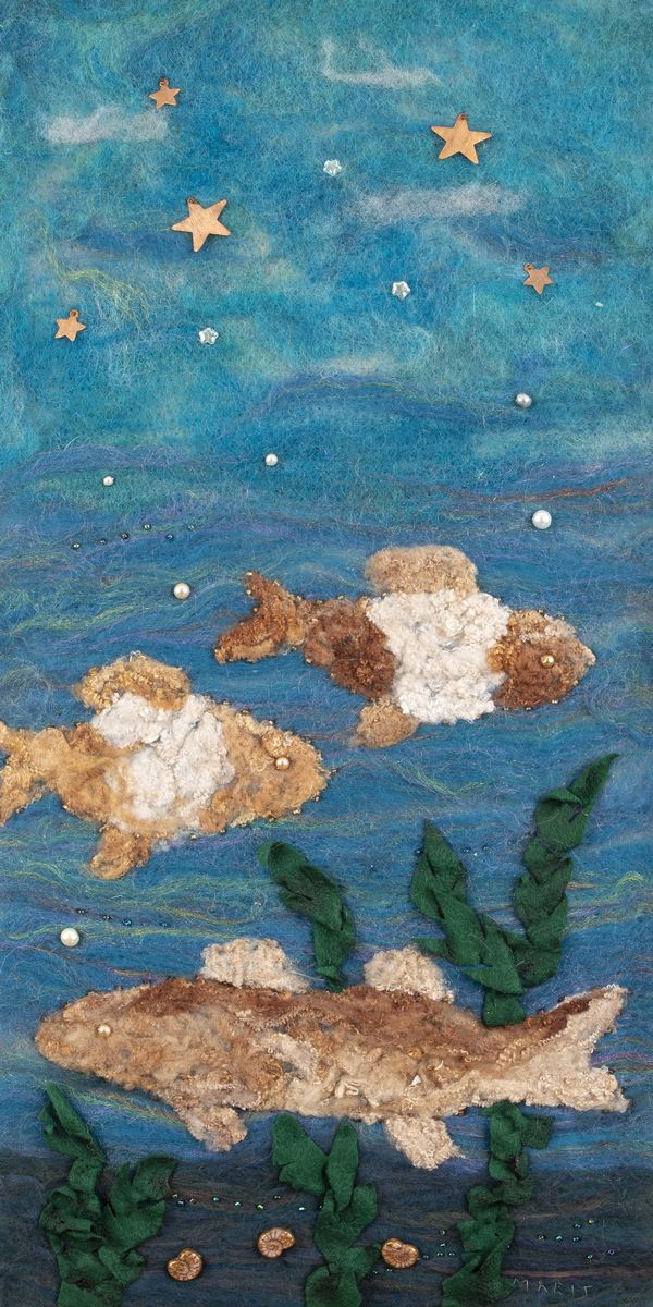 Starry Night and Fish by Marit Lomen