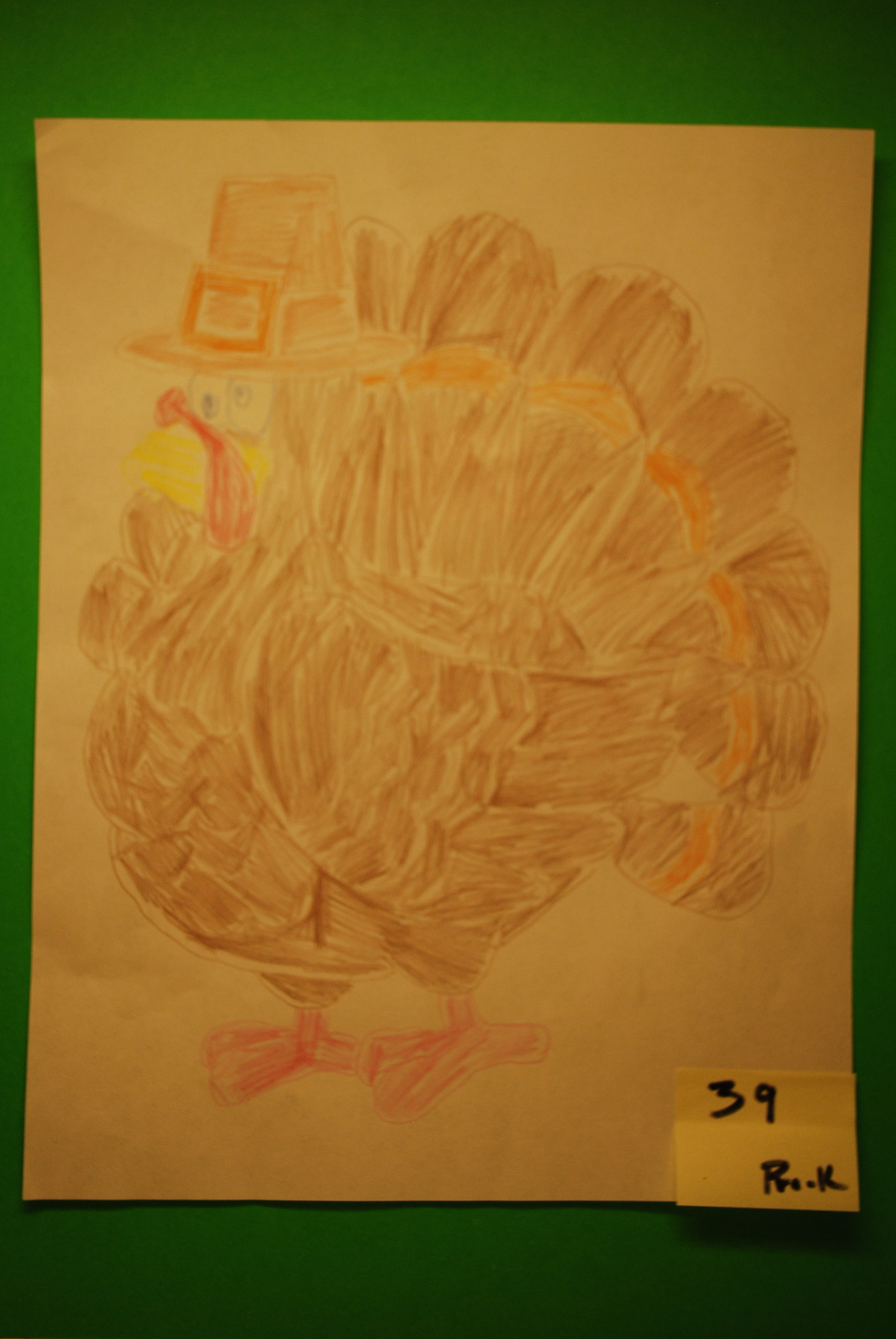 YAC 2020 #39 PreK-K-4 Turkey b