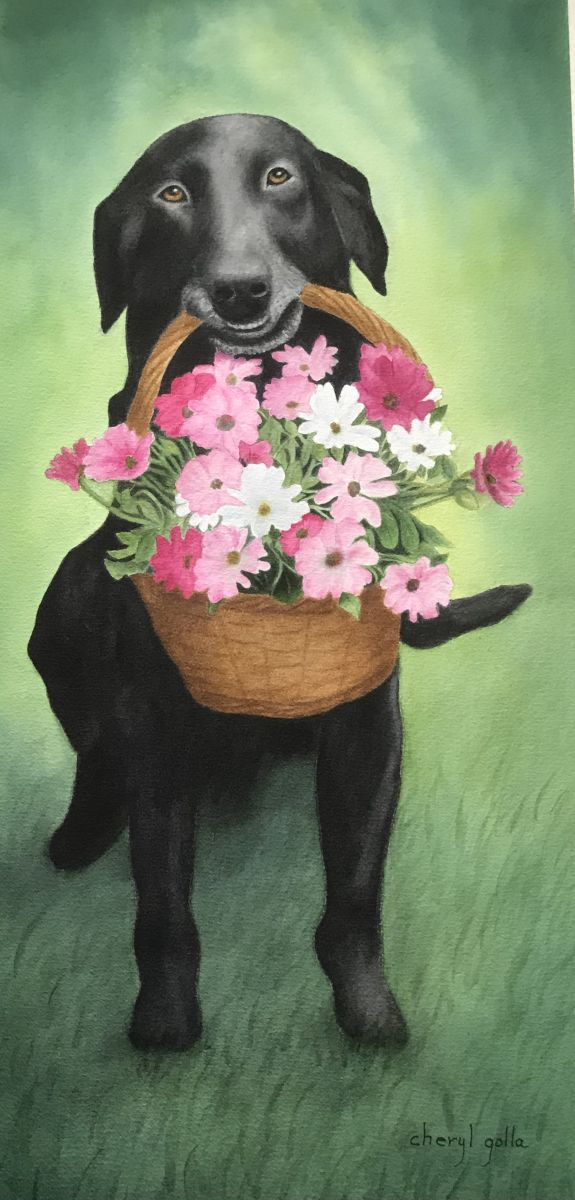 Fetch by Cheryl Golla (Watercolor)
