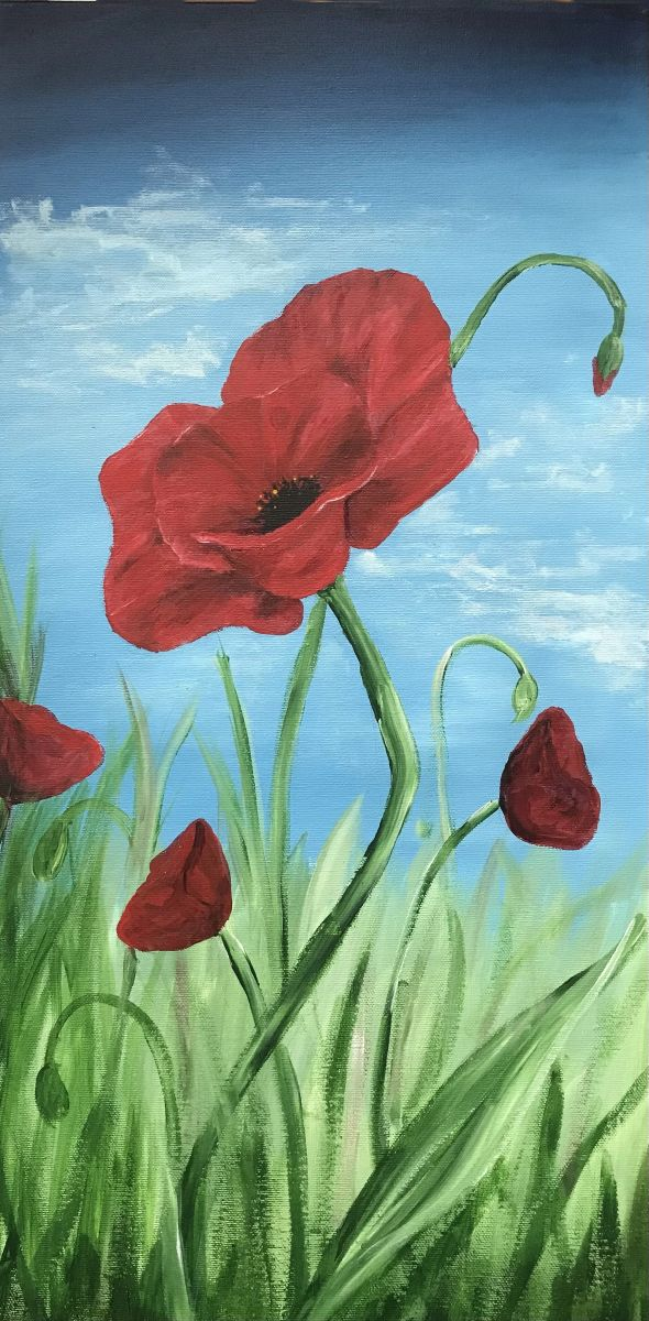 Poppies by Molly Johnson (Acrylic)