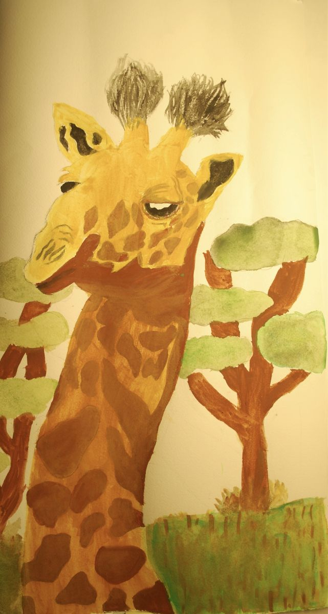 Giraffe by Genavieve Knaup (Watercolor)