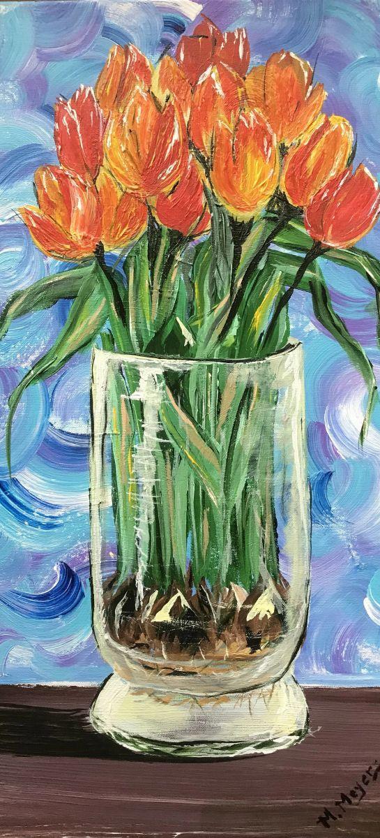 Grandma's Tulips by Melissa Meyers (Acrylic)