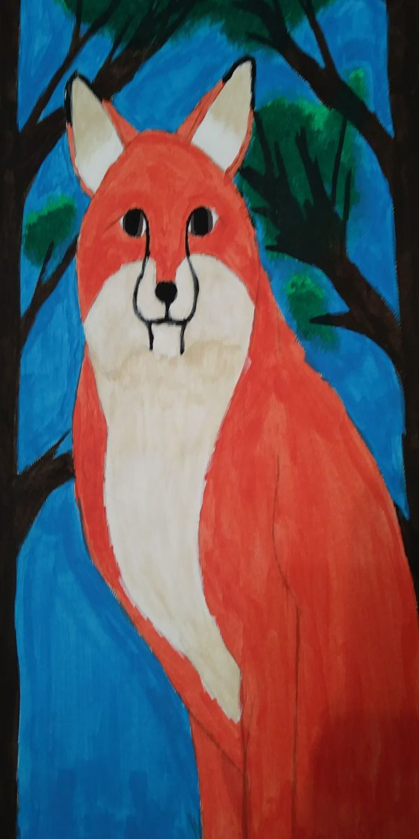 Summer Fox by Valerie Shores (Acrylic)