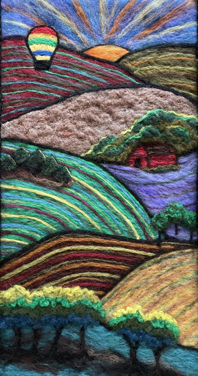 Farmland by Connie Simonson (Fiber Arts)