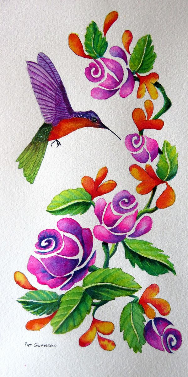 Hummingbird by Pat Swanson (Watercolor)